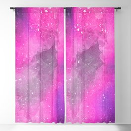 Purple space painting Blackout Curtain