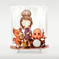 band Shower Curtains featuring Jam Band  by FlyOkay