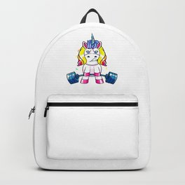 Weight Lifting Unicorn Lover Funny Workout and Exercise Backpack