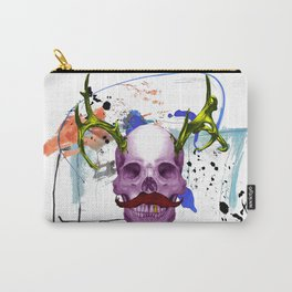 Gold Teethed Skull Head Carry-All Pouch