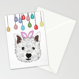 Happy Easter - Westie Bunny Stationery Cards