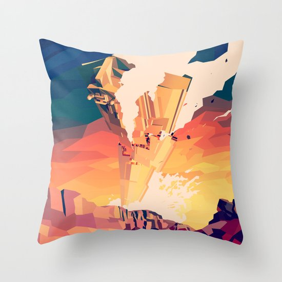 Destroyed Throw Pillow