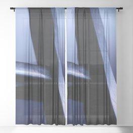 metal ladder Sheer Curtain