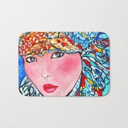 LUNA #society6 #decor #buyart My artwork is featured in MagCloud, Pink Panther Magazine, issue 25 Bath Mat