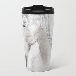Cathy's white horse Travel Mug