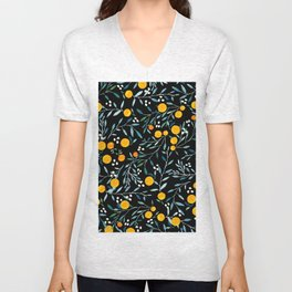 Oranges Black Unisex V-Neck