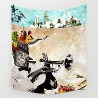 jazz Wall Tapestries featuring Jazz  by Design4u Studio