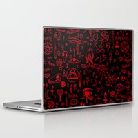 notebook Laptop & iPad Skins featuring notebook scribbles for satan by Mel Fox