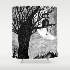 Lonely Robot Shower Curtain