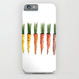 Happy colorful carrots iPhone Case