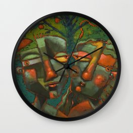 A Spot Of Bother In The Garden Wall Clock