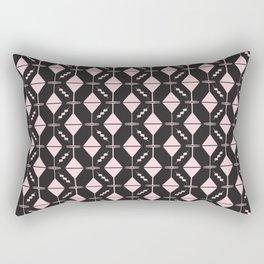 Dirty Martini // Pink + Black Rectangular Pillow