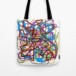 Rainbow Energy Abstract Digital Painting Tote Bag