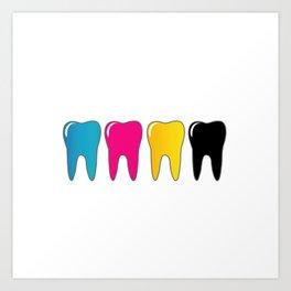 CMYK tooth Art Print