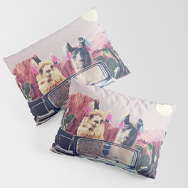 Llamas on the road Pillow Sham