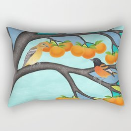 B. orioles in the stained glass tree Rectangular Pillow