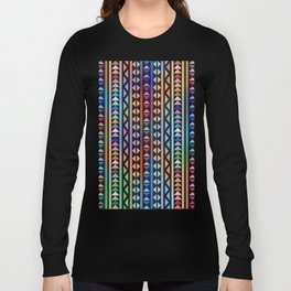 Colorful Tribal Stripes and triangles Pattern Long Sleeve T-shirt