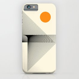 Abstraction_NEW_BIRD_FLY_LINE_POP_ART_033A iPhone Case