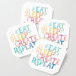 Eat Sleep Create Repeat Quote Coaster