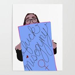 Women's March Minimalist: F*ck Misogyny Poster