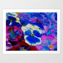 Pansy Carpet Art Print