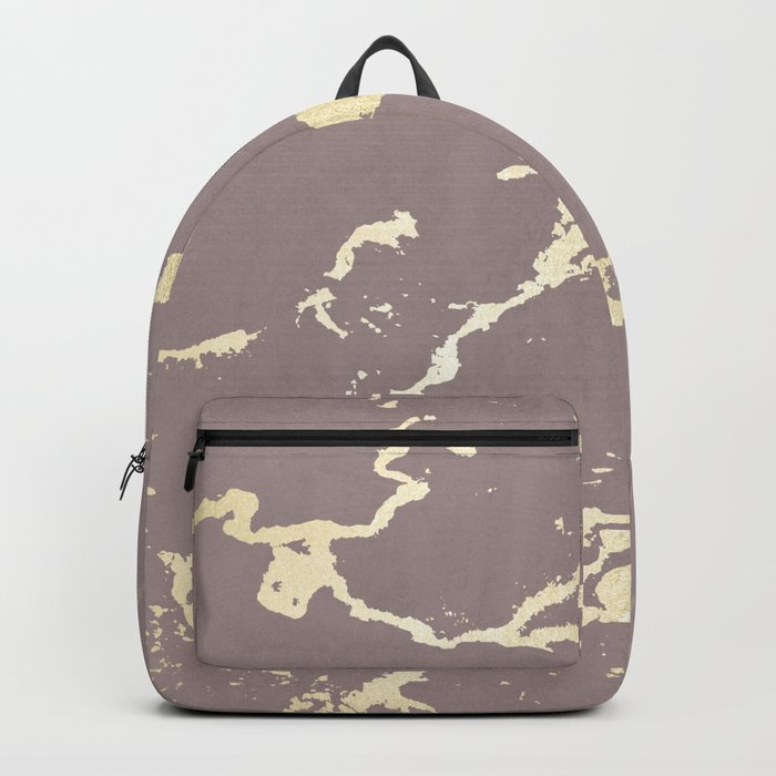 Kintsugi Ceramic Gold on Red Earth Backpack