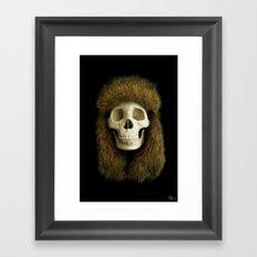Northern Skull Framed Art Print