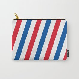 Blue, white and red stripes pattern Carry-All Pouch