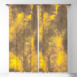 Yellow Painted on Concrete Blackout Curtain