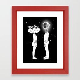 Day Dreamer Meets Night Thinker Framed Art Print