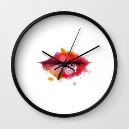 Lips Print,Fashion Illustration,Fashion Print,Fashion Decor,Lipstick Print,Makeup Quote,Makeup Art Wall Clock