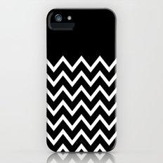 White Chevron On Black iPhone (5, 5s) Slim Case