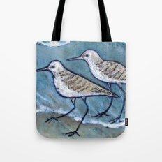 Two By Sea Shore Birds  Tote Bag