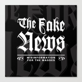 The Fake News Header Canvas Print