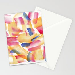 180719 Koh-I-Noor Watercolour Abstract 5| Watercolor Brush Strokes Stationery Cards