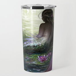 Little mermaid - Lonley siren watching kissing couple Travel Mug