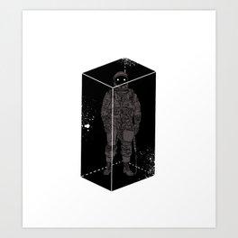 Astronaut in a box Art Print