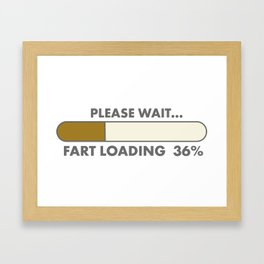 fart loading computer Framed Art Print