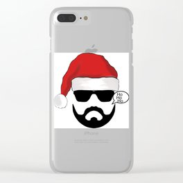 Christmas gift,Santa tshirt Clear iPhone Case