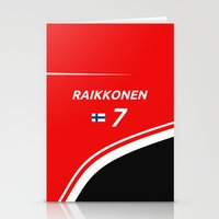 f1 Stationery Cards featuring F1 2015 - #7 Raikkonen by MS80 Design