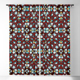 Abstract flower 8g Blackout Curtain