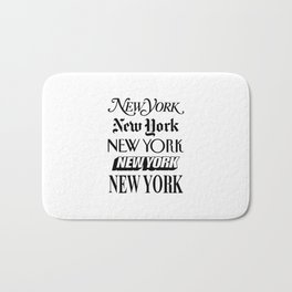 I Heart New York City Black and White New York Poster I Love NYC Design black-white home wall decor Bath Mat