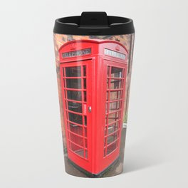 red phone call box london Metal Travel Mug