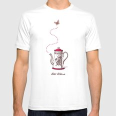 Tea time Mens Fitted Tee MEDIUM White