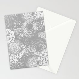 Moody Florals in Grey Stationery Cards