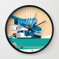 beauty and the beast Wall Clocks featuring Beauty & The Beast by Joneta Witabora