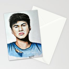 Calum from 5 Seconds of Summer colored artwork Stationery Cards