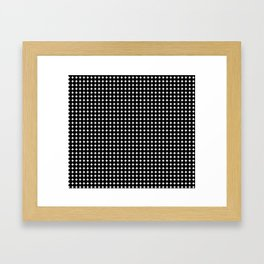 Black Circles Framed Art Print