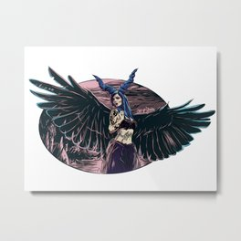 Riae Suicide Vector Illustration Metal Print