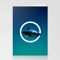 shark Stationery Cards featuring Shark. by POP.